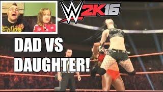 FATHER VS DAUGHTER WWE 2K16 DIVAS Wrestling Match! Paige VS Nikki Bella PS4 Gameplay