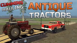 getlinkyoutube.com-Farming Simulator 2015- Cummins Hauling American Antique Tractors!