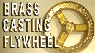 getlinkyoutube.com-Brass casting #12 Moldmaking & Casting the flywheel