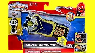 getlinkyoutube.com-Silver Morpher Review & Comparison! (Power Rangers Super Megaforce)