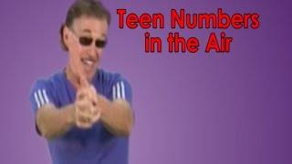 getlinkyoutube.com-Teen Numbers | Numbers in the Teens | Teen Numbers In The Air | Jack Hartmann