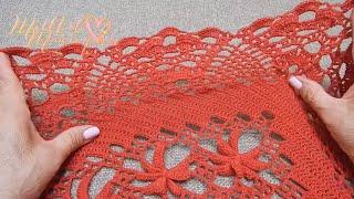 getlinkyoutube.com-Orilla # 23 para  el Chal Crochet