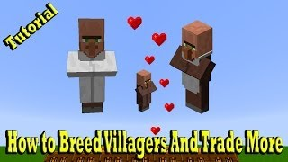 getlinkyoutube.com-Minecraft How to Breed Villagers And Trade More