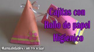getlinkyoutube.com-Cajita de Regalo con Rollo de Papel Higienico-manualidades(reciclaje)
