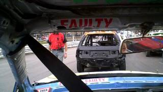 getlinkyoutube.com-Banger Racing, Ipswich Rookies onboard Camera in the Civic
