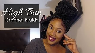 getlinkyoutube.com-HOW TO:  CROCHET BRAIDS : HIGH BUN / Ponytail #CROCHETBRAIDS