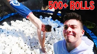 CRAZY TRAMPOLINE FLIPS!! (500+ ROLLS)