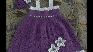 getlinkyoutube.com-Crochet Patterns  for free  crochet baby dress  1518