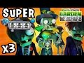 SUPER BARON VON BATS Zomboss Vampire Wave Battle! x3 (UNPLANNED PVZ Garden Warfare RECORDING)