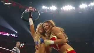 getlinkyoutube.com-WWE Kelly Kelly & Eve VS Nikki & Brie (Bella Twins)