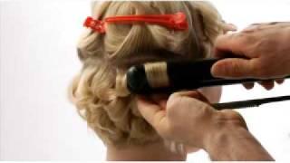 getlinkyoutube.com-Modelo de peinado sobre cabello corto con efecto Twist