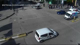 Erzincan'da trafik kazaları MOBESE kameralarınca görüntülendi