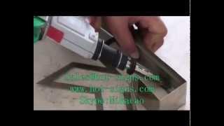 getlinkyoutube.com-Make metal 3D channel letters Using a metal bender& auto welding gun