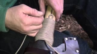getlinkyoutube.com-How to put a Para Cord wrap on a Axe