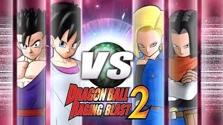 getlinkyoutube.com-Dragon Ball Z Raging Blast 2 - Videl & Gohan Vs. Android 18 & Android 17 (PC Parts?)