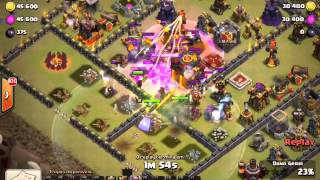getlinkyoutube.com-NEW HERO Grand Warden 3 STAR Attack on Clan WAR - Player Jay (10/12/15)