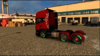 getlinkyoutube.com-Euro Truck Simulator 2 v1.22.0.3 (29 DLC) Scania V8 Topline