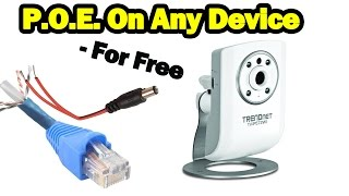 DIY Power Over Ethernet on NON POE Devices - For Free