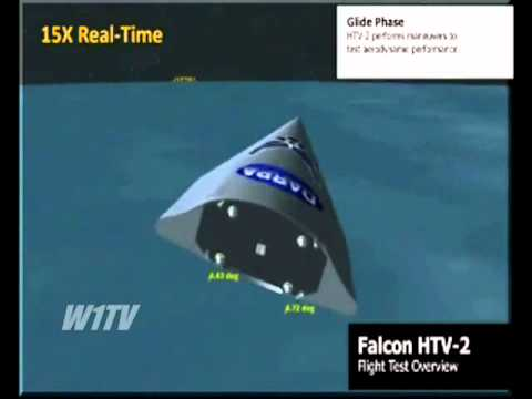 Second test flight of the Falcon HTV-2