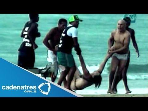 ¡¡¡LAMENTABLE!!! Caída de rayo mata a mujer cuando nadaba en playas de Sao Paulo, Brasil