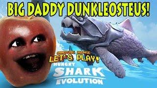 Midget Apple Plays - Hungry Shark Evolution: BIG DADDY DUNKLEOSTEUS!