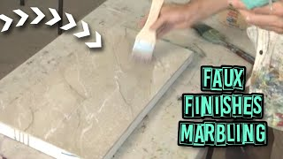 getlinkyoutube.com-Acrylic Painting Techniques - Faux Finishes - Marbling