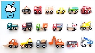 getlinkyoutube.com-Wooden Cars for kids children | learning street vehicles name and sound for kids