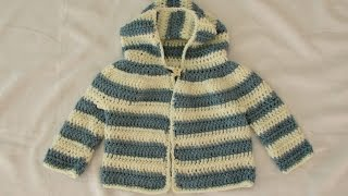 getlinkyoutube.com-How to crochet an EASY children's sweater / hoodie / jacket