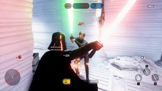 getlinkyoutube.com-Star Wars Battlefront Beta Darth Vader VS Luke Skywalker! EPIC HERO FIGHT! (SWBF Funny Moments)