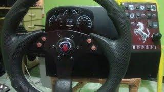getlinkyoutube.com-Volante Caseiro 900º+H-Shifter+18 marchas+Pedais+Freio Motor Euro Truck 2