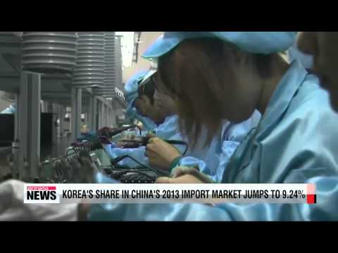 Korea becomes number one player in Chinese import market