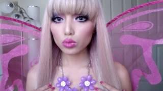 getlinkyoutube.com-Fairy Barbie Princess Make-up look !!!