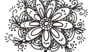 getlinkyoutube.com-How to Draw Cool Designs - Draw Flower Designs