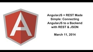 getlinkyoutube.com-AngularJS + REST Made Simple: Connecting AngularJS to a Backend with REST & JSON