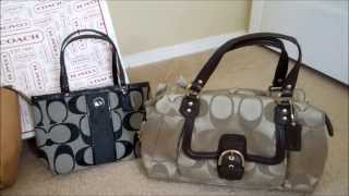 getlinkyoutube.com-Coach retail handbags vs Coach factory outlet handbags