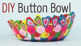 getlinkyoutube.com-DIY craft : Button Bowl - Ana | DIY Crafts