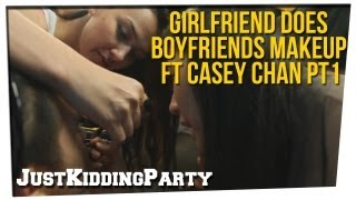 getlinkyoutube.com-Girlfriend Does Boyfriends Makeup ft Casey Chan pt 1