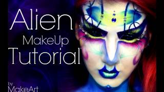 getlinkyoutube.com-Artistic Alien - Makeup Tutorial