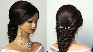 getlinkyoutube.com-Wedding prom mermaid hairstyle for long hair.