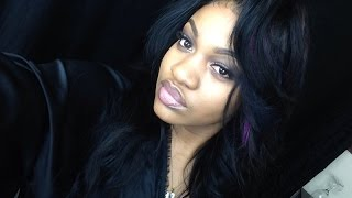 getlinkyoutube.com-Flip over Quick weave ft Genesis virgin hair + colored highlights