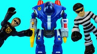 Imaginext Police Robot Fights Crime for Gotham City Gordon also Green Lantern Superman Robots