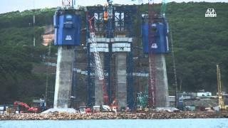 getlinkyoutube.com-Bridge to Russky Island in Vladivostok