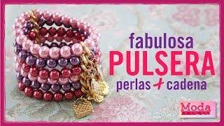 Cómo hacer una pulsera de perlas de colores con Adriana Muñoz Kit 23189