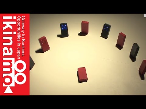 The appearance of Super Domino! Domino collapses without physical contact