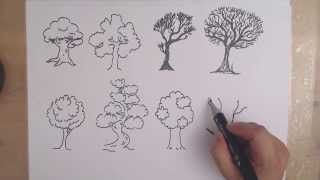getlinkyoutube.com-How to draw a TREE - 8 DIFFERENT WAYS drawing trees