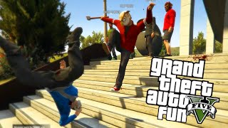 getlinkyoutube.com-GTA 5 Next Gen Fun: Murder Maze Edition - Jump Scares, 1st Person, Chases