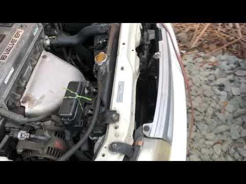 Видео запуска и работы ДВС 7AFE Toyota Carina AT191 89000km
