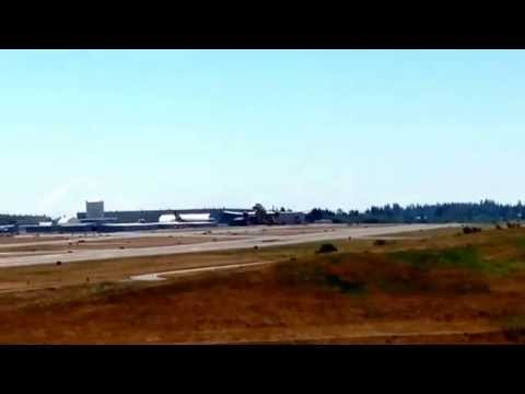 ANA 787-900 Departing on test flight Everett PAE