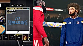 NBA 2K16 MyCAREER -  NEW Spalding Endorsement ! | Another Triple Double On The Rockets !
