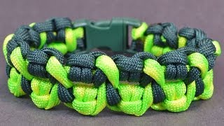 "getlinkyoutube.com-Make the ""Crossed Claws"" Paracord Survival Bracelet - Bored?Paracord!"